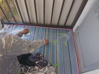 ベランダ支柱サビ止め塗装
