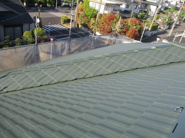セキスイ 屋根塗装完成