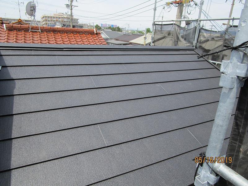 屋根金属壁塗装2