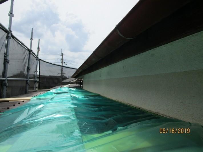 屋根金属壁塗装3