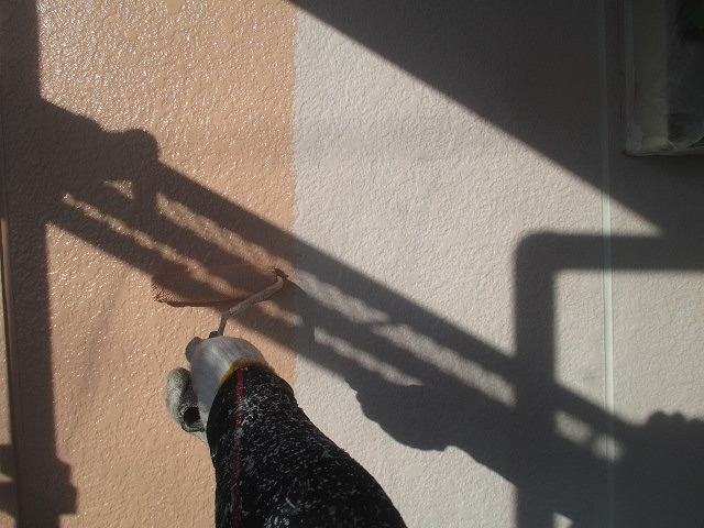 2階外壁塗装中