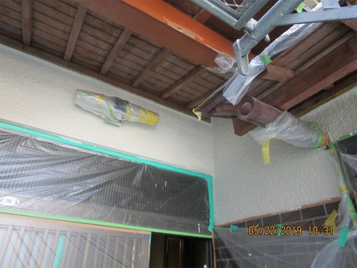 外壁塗装中塗り2