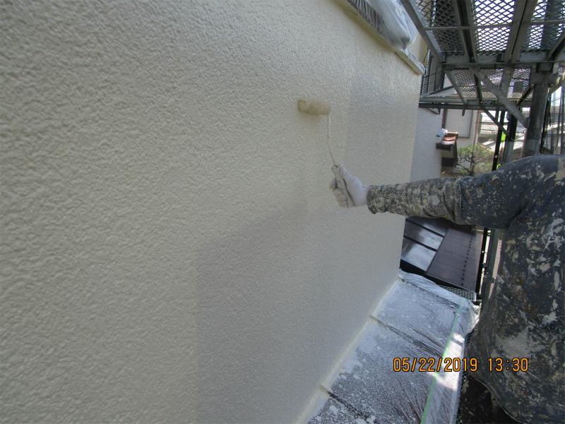 外壁塗装上塗り1