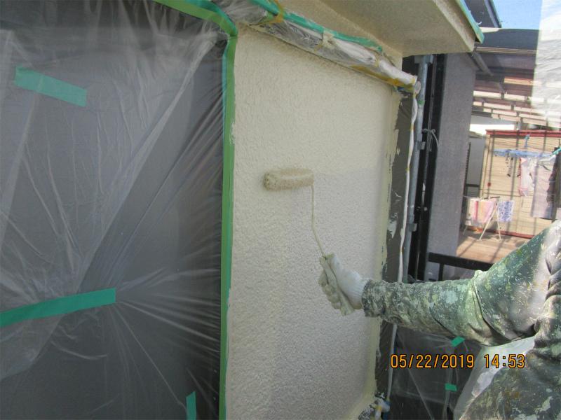 外壁塗装上塗り3