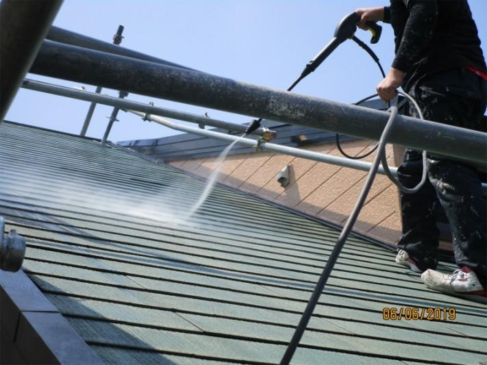 屋根洗浄2