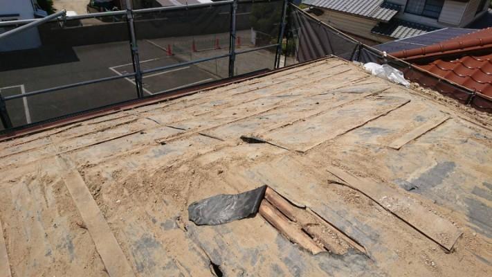 葺き替え工事 土撤去