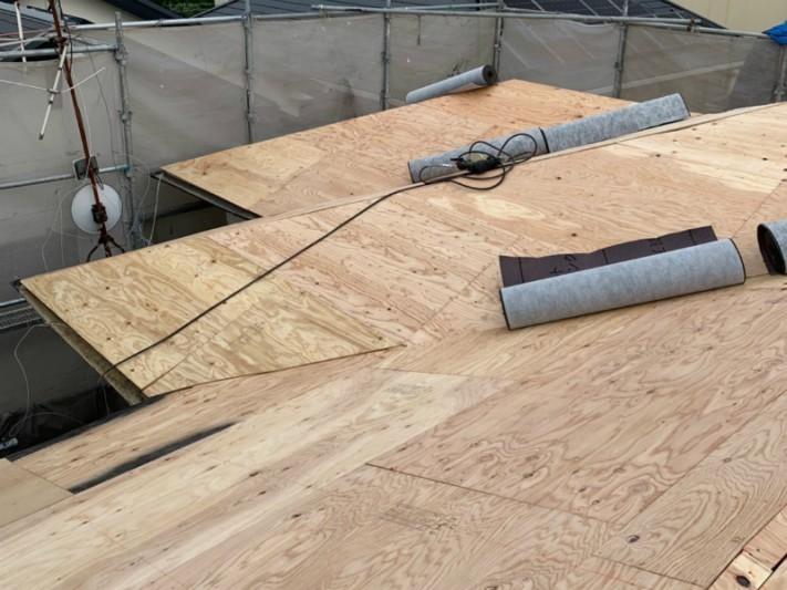 構造用合板の増し貼り