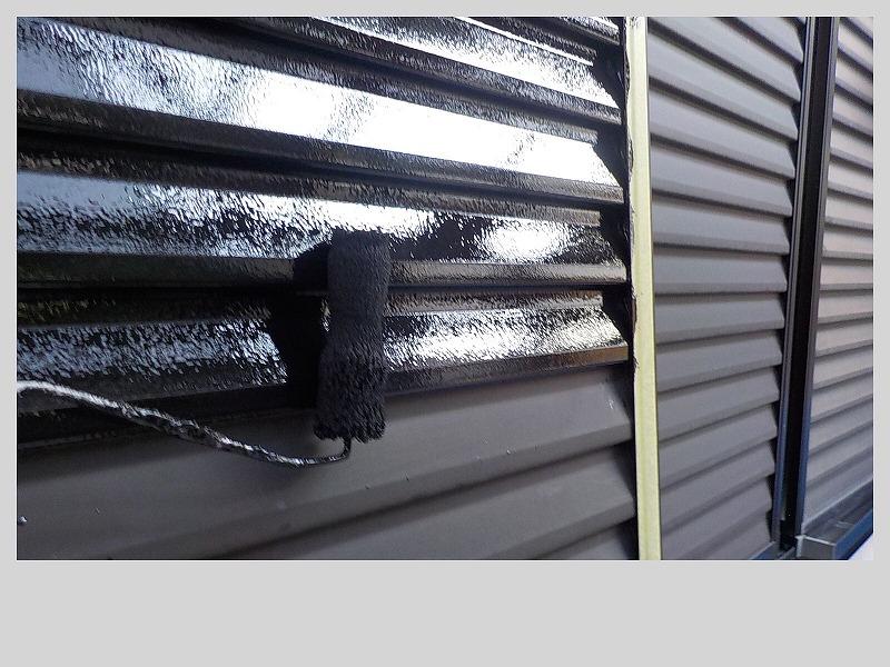 雨戸のシリコン塗装