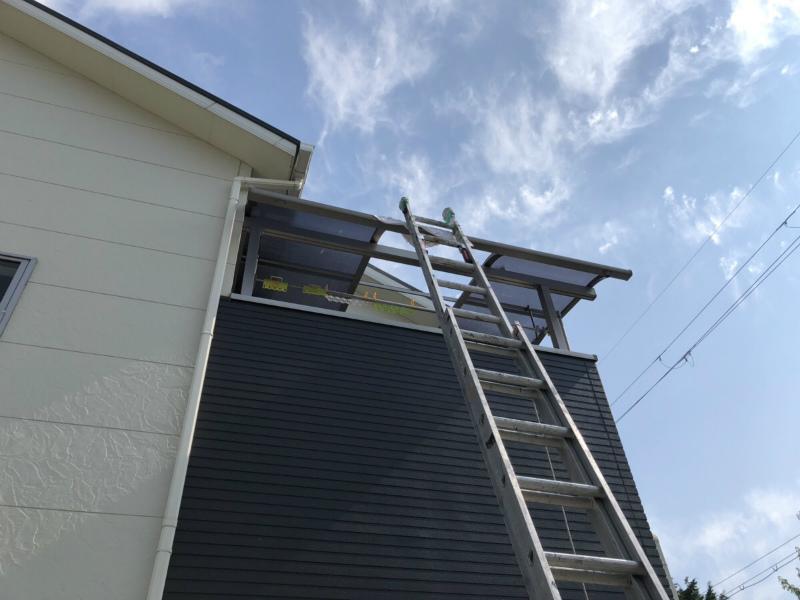 ベランダの屋根の工事