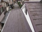 台風後のスレート屋根点検