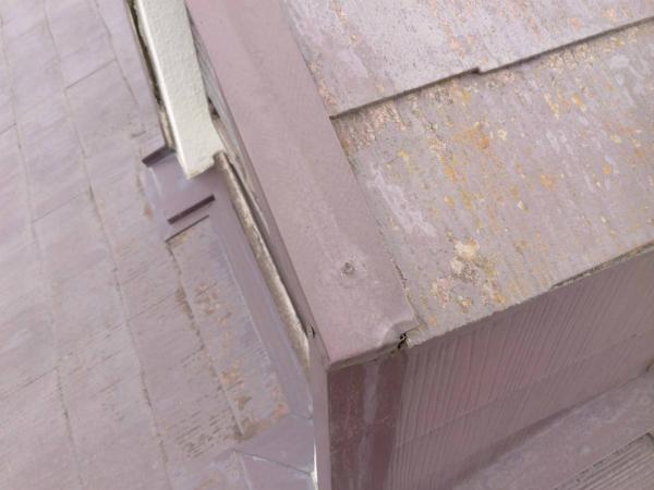 スレート屋根の板金の劣化