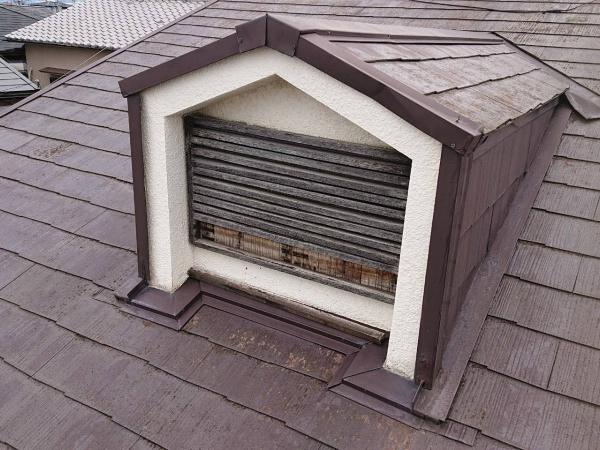 木製ガラリが台風の被害で