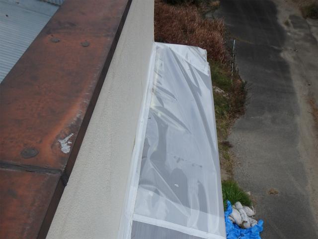 庇のトタン板金の被害
