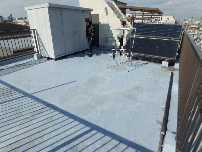 屋上のウレタン防水の状態