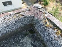 陸屋根のパラペット部分の劣化