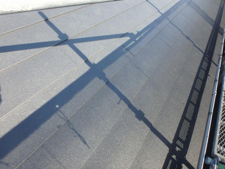 カバー工法にてガルバリウム銅板はり付け