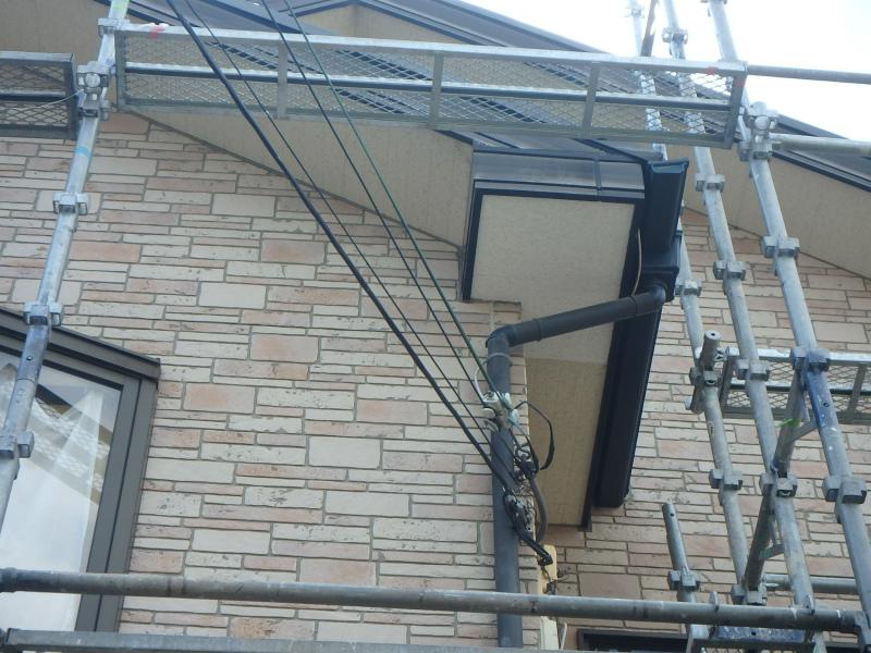軒天板補修工事4