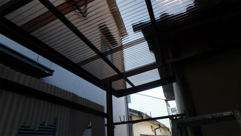 テラス屋根 ポリカ波板