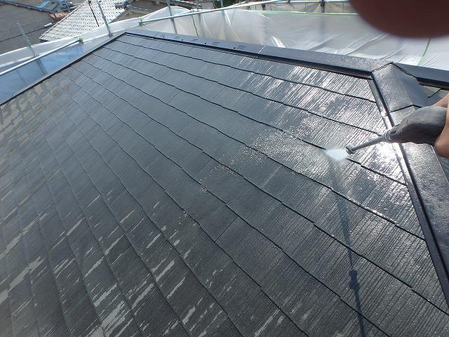 大屋根高圧洗浄