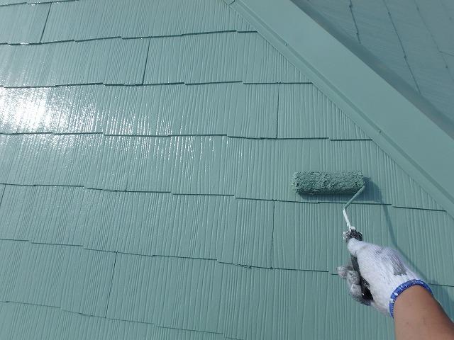 大屋根上塗り