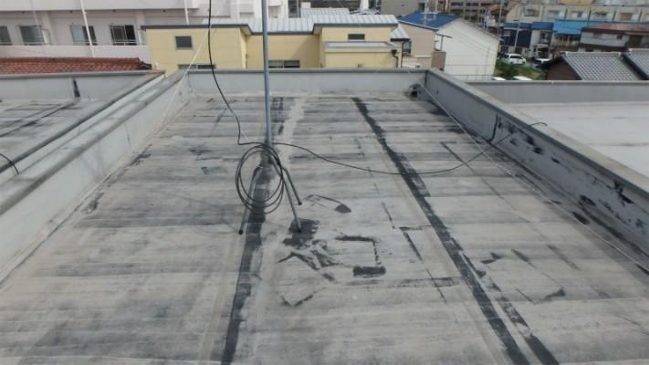 屋上の塩ビシート防水
