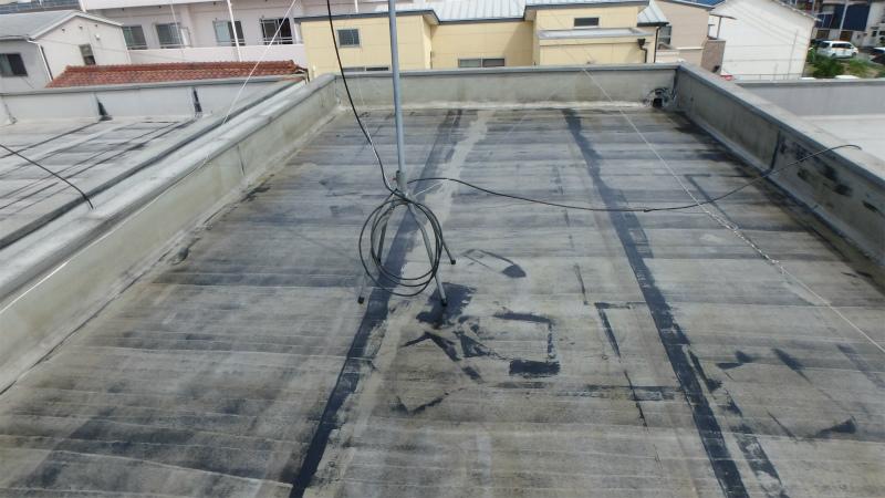 屋上の塩ビシート防水のプライマー
