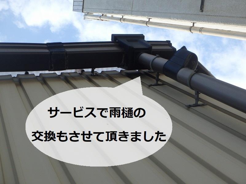 東大阪市工場波板屋根雨漏り修理 サービスで雨樋の交換