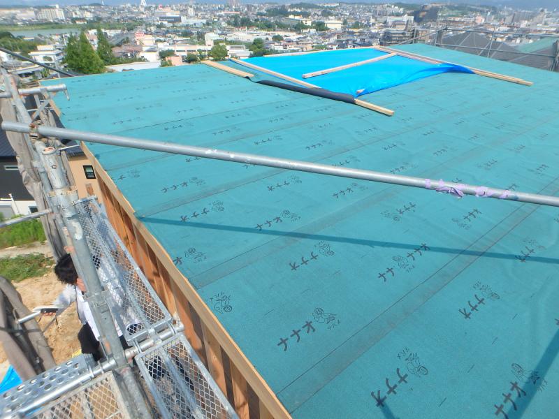 屋根のルーフィング