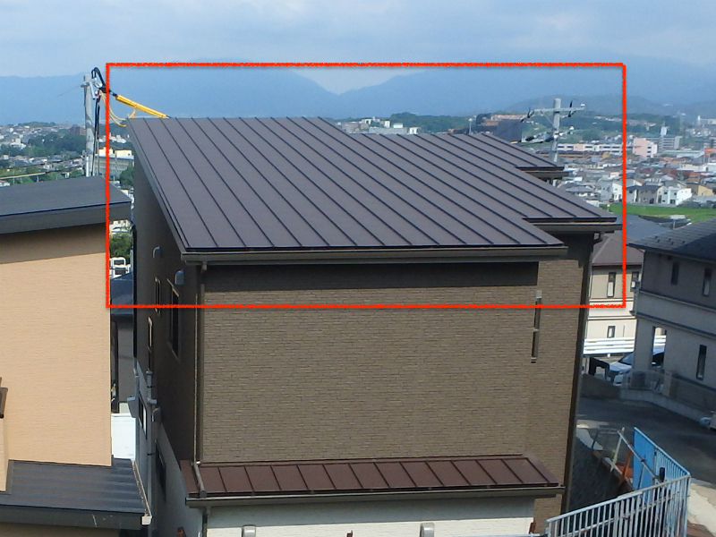 金属屋根の立平葺き