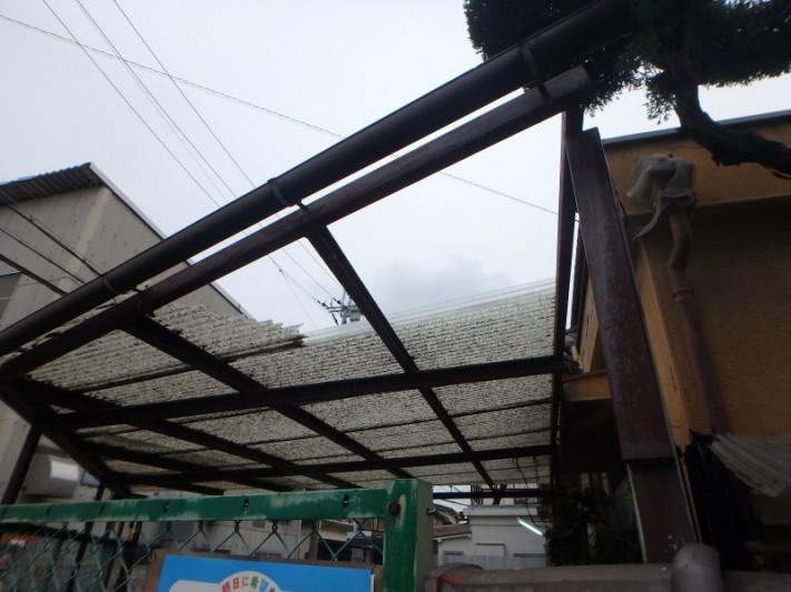 テラス屋根のトタン波板
