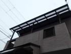 ベランダ屋根のポリカパネル交換