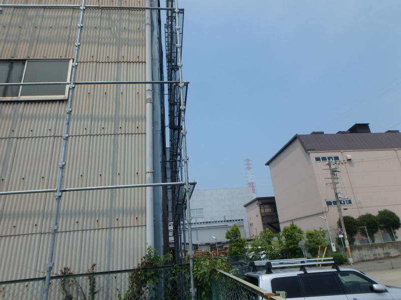 工場の足場工事