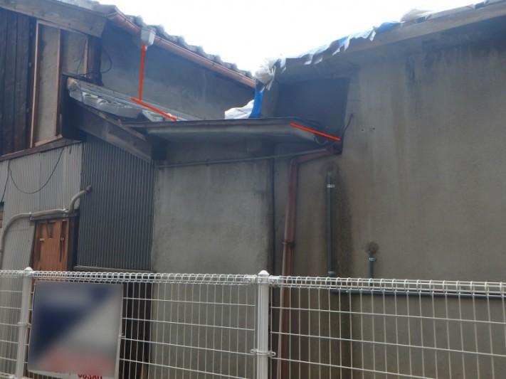 台風で雨樋の被害