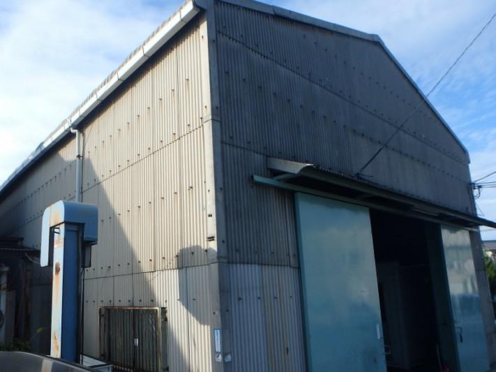 倉庫の屋根点検