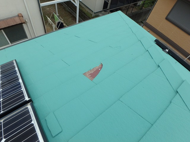 大屋根の破損
