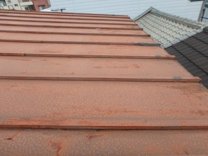 台風でかわら棒屋根が被害