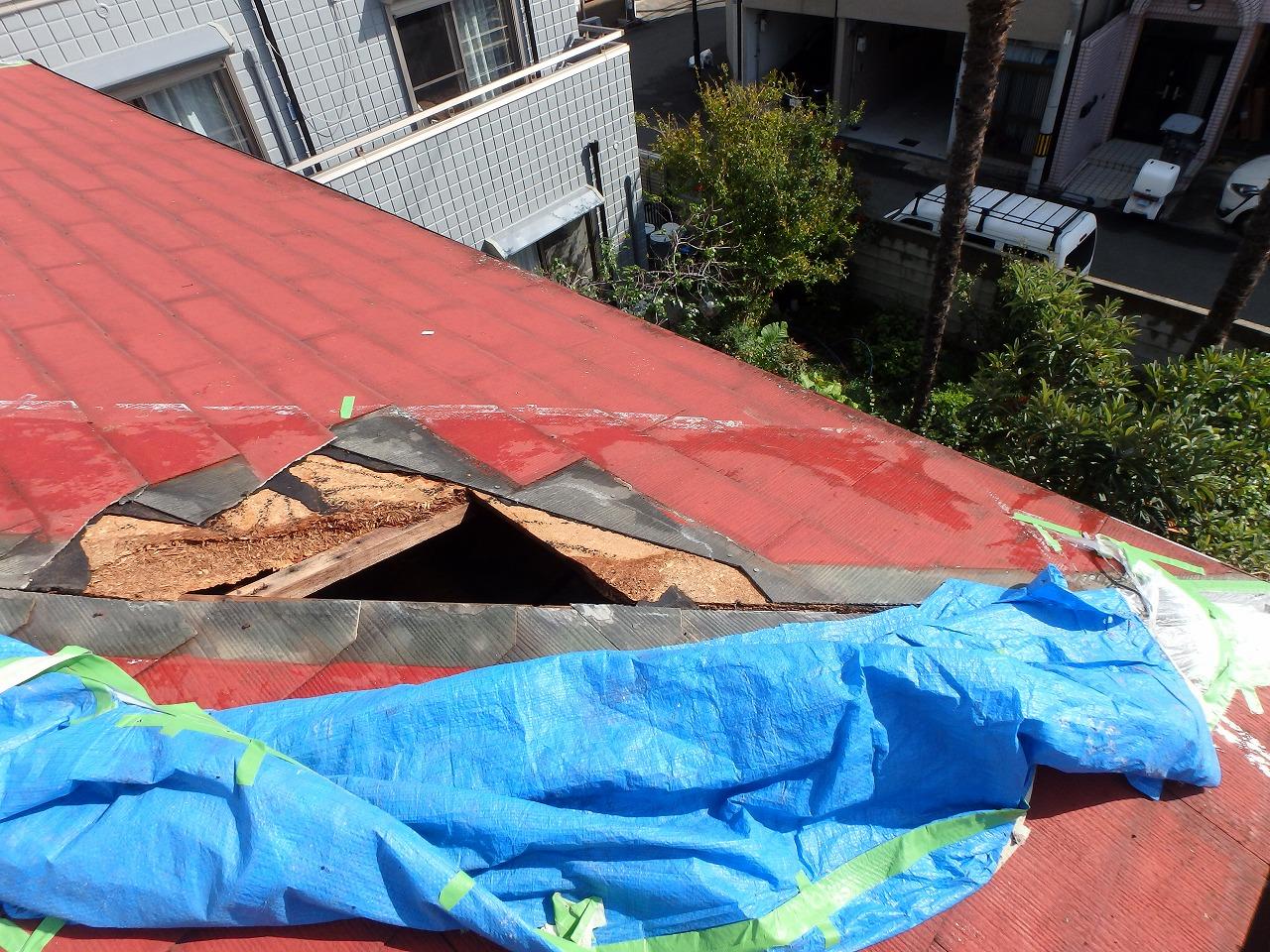 屋根の破損状況3