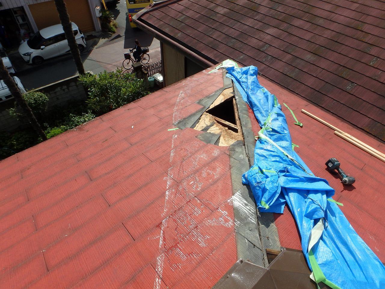 屋根損傷の状態