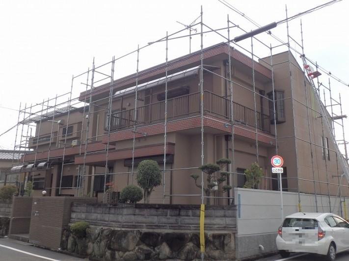 屋根工事用の足場