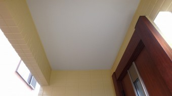 軒天塗装後