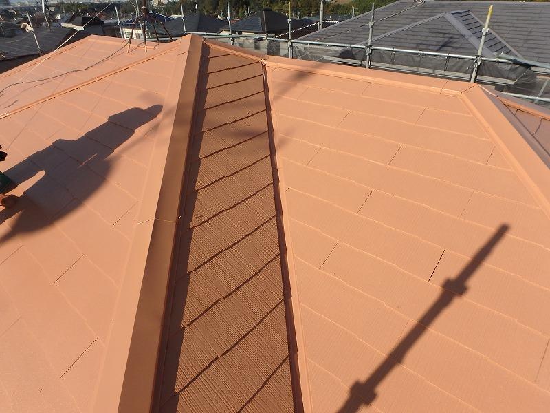 明るい色の屋根塗装例 サンタンオレンジ