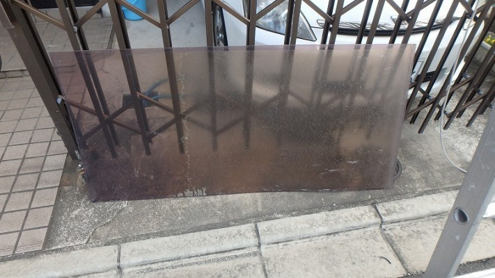 施工前ポリカパネル