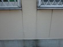 ALCの外壁についた黒ずんでいる雨染み