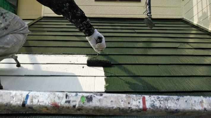 屋根中塗り4