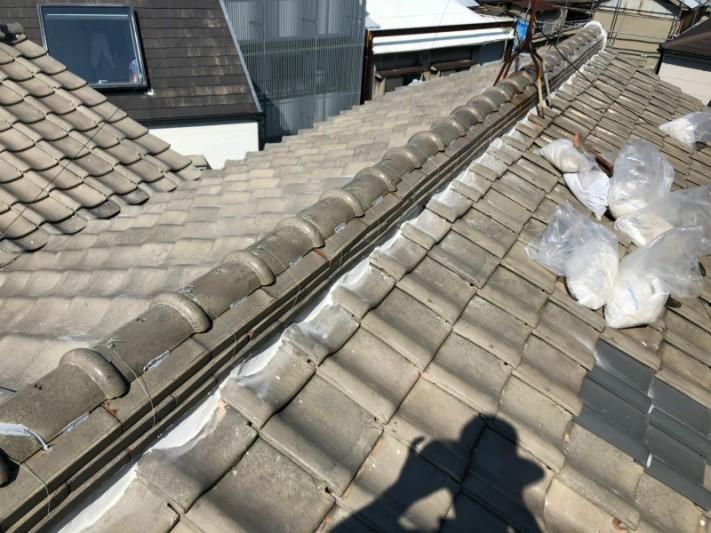 瓦屋根補修工事3漆喰補修