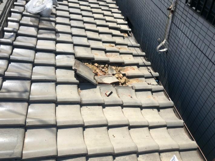 瓦屋根補修工事1