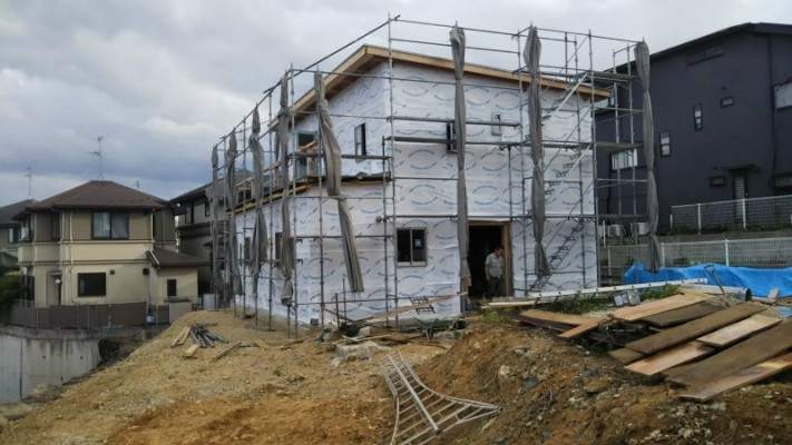 新築の屋根と外壁サイディング工事