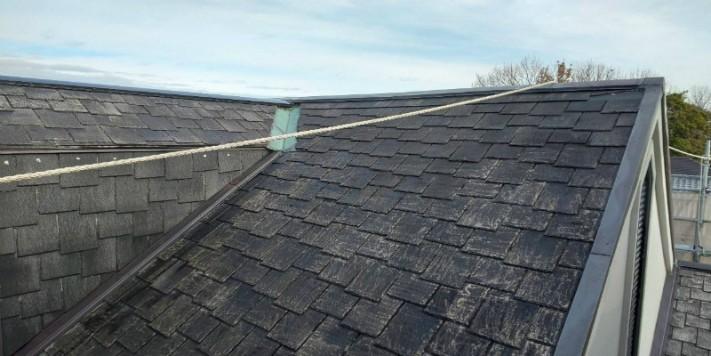 屋根ノリ材塗装完了