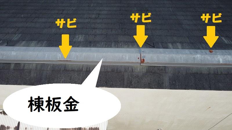 和泉市 棟板金が原因で雨漏り