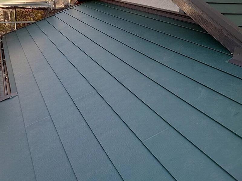 屋根葺き替え後の屋根全体